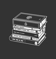 pile books in a monochrome style vector image