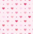 Pink retro seamless pattern Hearts and dots vector image vector image