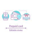 prepaid card concept icon vector image vector image