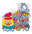 Purim hand drown background vector image vector image