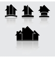Real estate black vector image vector image