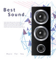 realistic audio system vector image vector image