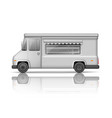 realistic food truck isolated on white fast food vector image