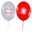 red and gray balloons vector image vector image