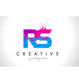 rs r s letter logo with shattered broken blue vector image vector image
