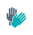 rubber gloves colored icon cleaning supply hand vector image vector image