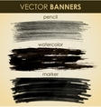 set hand drawn banners vector image