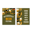 set of 2 posters for the craft beer festival vector image