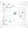Set of social network banners vector image vector image