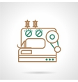 Sewing machine flat line icon vector image vector image