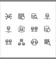 simple set databases line icon contains vector image vector image