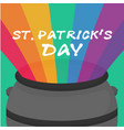 st patrick s day rainbow background image vector image