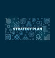 strategy plan blue outline on dark vector image vector image
