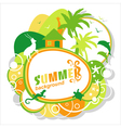 Summer abstract background or card vector image vector image