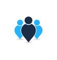 team people logo icon design vector image