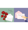thanks card vector image vector image