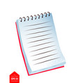 top view of notebook vector image