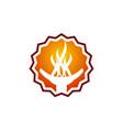torch logo design template vector image