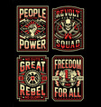 vintage propaganda t-shirt designs collection vector image vector image