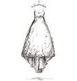 Wedding dress on a hanger vector image vector image