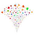 wine glass fountain stream vector image vector image