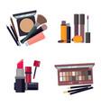woman cosmetic makeup beauty accessories bronzer vector image