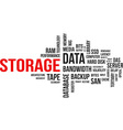 word cloud storage vector image vector image