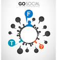 Worldwide communication and social media concept