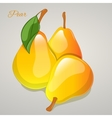 Yellow pear simple cartoon style vector image vector image