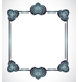 Frame with abstract shapes vector image