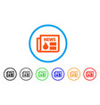 hot news rounded icon vector image
