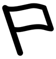 Flag Stroke Icon vector image