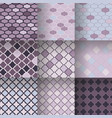 traditional quatrefoil lattice seamless patterns vector image