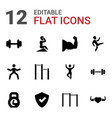 12 strong icons vector image vector image