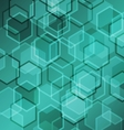 Abstract green gradient background with hexagon vector image vector image
