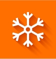 Abstract snowflake on orange background vector image vector image