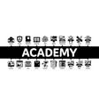academy educational minimal infographic banner vector image
