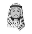 arabhuman race single icon in monochrome style vector image vector image