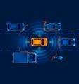 autonomous smart car vector image vector image