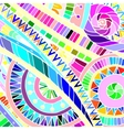 Background with geometric mosaic elements vector image vector image