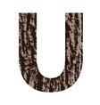 bark letter U vector image vector image
