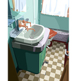 bathroom vector image