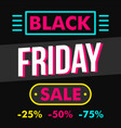 black friday sale concept background flat style vector image vector image