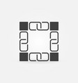 blockchain dark icon or logo element vector image vector image