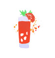 bloody mary cocktail colorful hand drawn vector image vector image