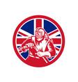 british sandblaster union jack flag vector image vector image