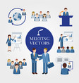 business people office work job marketing vector image