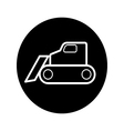 caterpillar bulldozer icon vector image