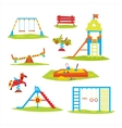 Children Playground Colourful vector image vector image