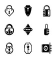 chink icons set simple style vector image vector image